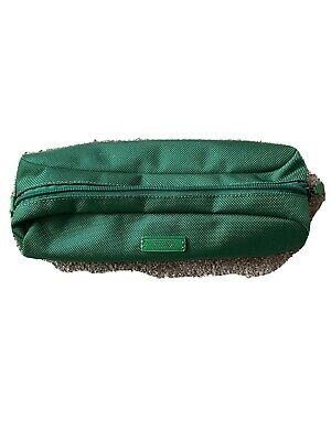 Nylon Pencil Bag (TUMI Green Ballistic Nylon Zip Top MAKE UP BAG brush PENCIL)