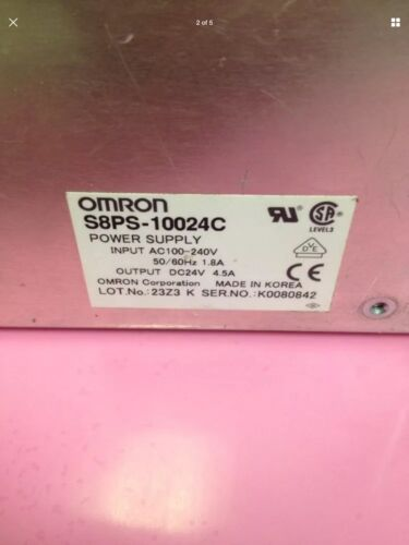 Omron S8PS-10024C Power Supply 100-240VAC 4.5A / CNC / Mori Seiki NEW AND SEALED - $44.99