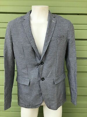 NWT ZARA MAN Grey Jacket suit Blazer lapel collar long sleeve size USA 42 $129