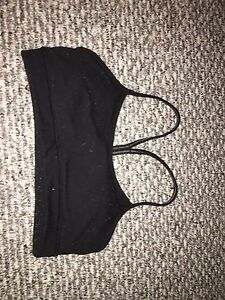Size 6 lululemon black sports bra