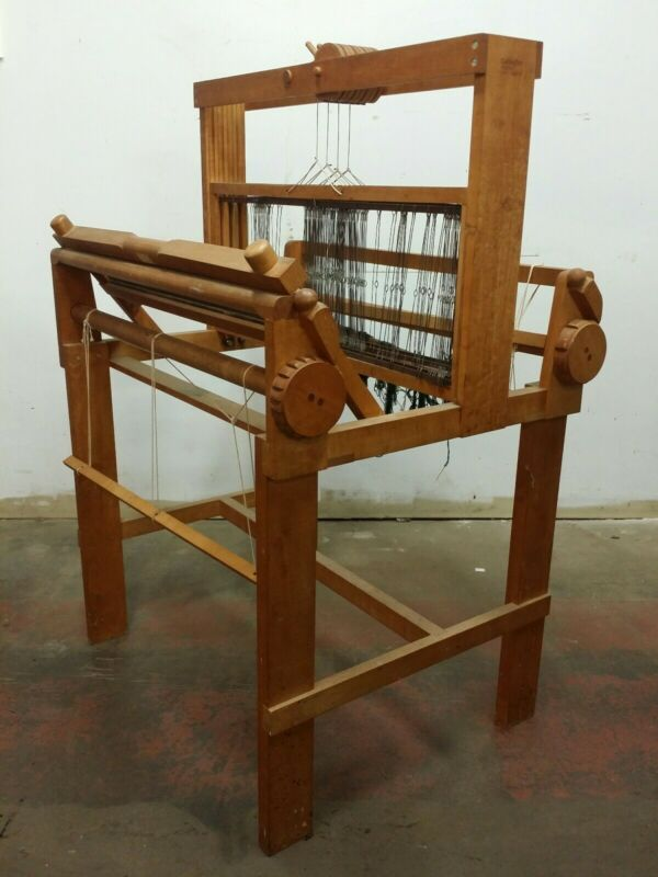 "Vintage Gallagher 30"" Hand Operated 4 Harness Table Weaving Loom, Santa Cruz CA"