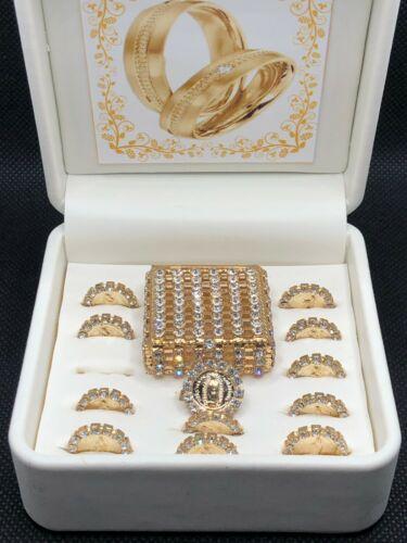 ARRAS de Matrimonio Color Oro, Elegant Wedding coins in Magnetic Display Box