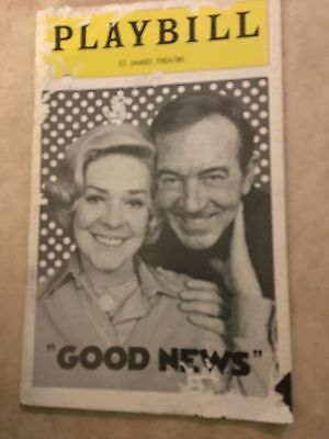 Good News   St  James Theatre Playbill   November 1974   Alice Faye   Payne