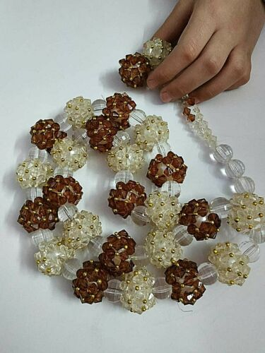 Beads rosary large rosary large plastic beads for home decoration Brown and whit