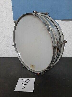 Schöne Trommel-Blechtrommel Durchmesser ca 34 cm Höhe ca 11 cm  (TO5)