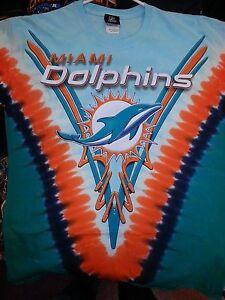 Miami dolphins tie dye v dye t shirt nfl licensed new logo nfl for Dolphins t shirt new logo