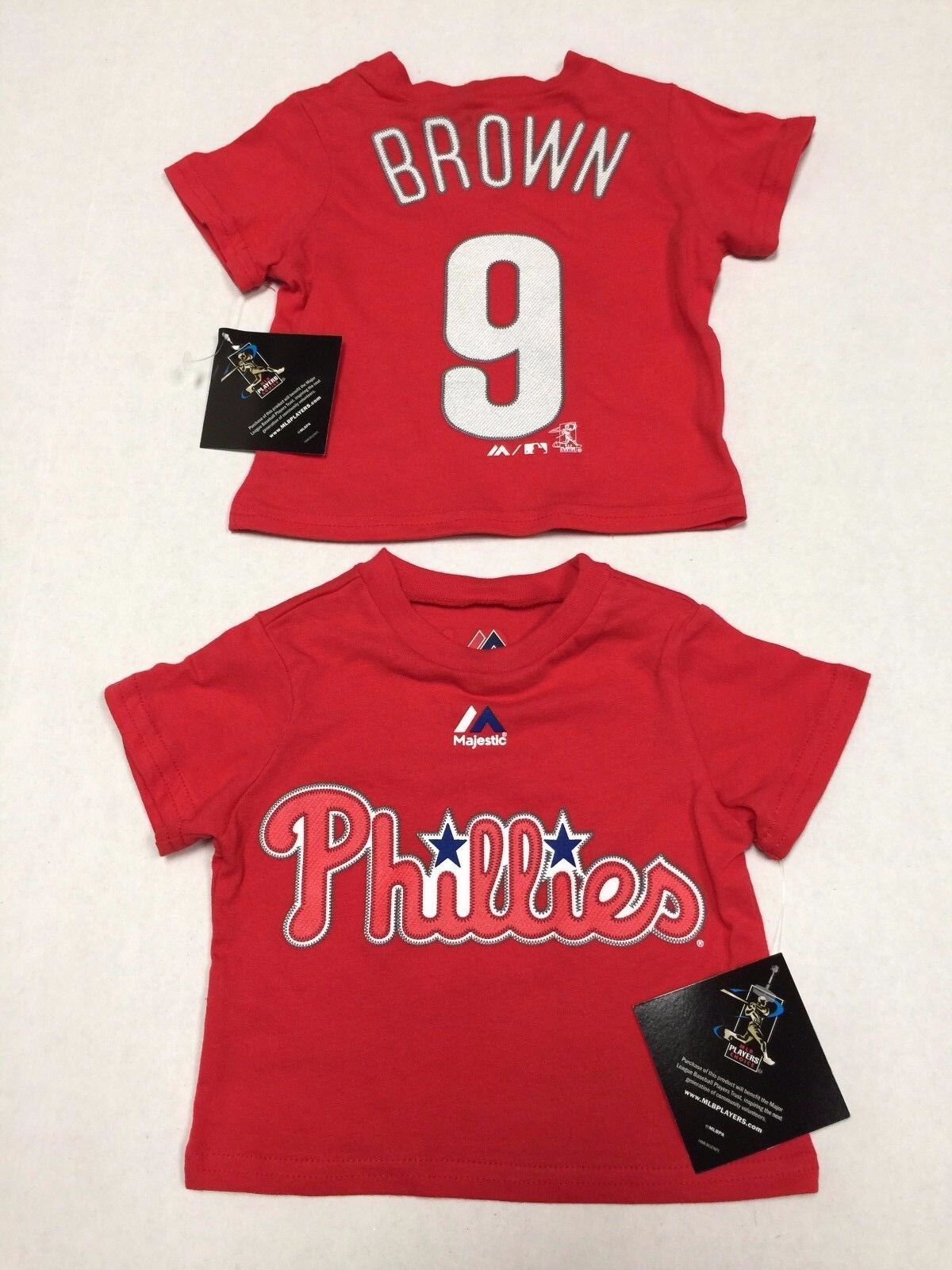 90b374f4c Details about Philadelphia Phillies Official Majestic MLB Domonic Brown 9  Infant T-Shirt New