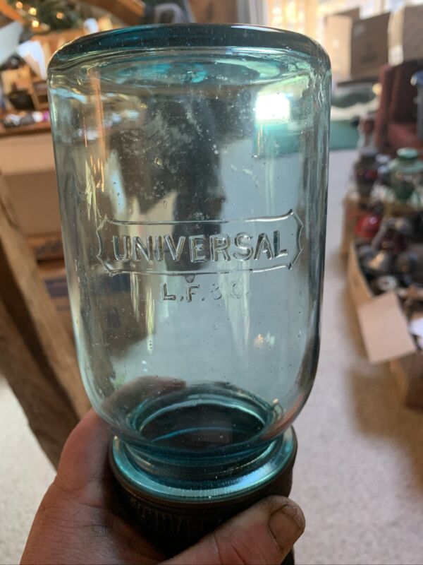 Very Rare Complete Universal No24 Coffee Grinder. Original Rare Jar And Cup Mint