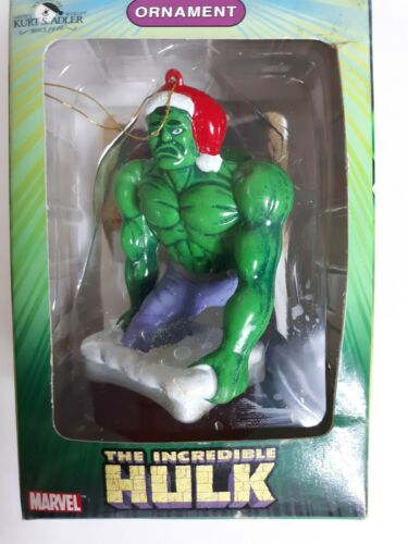Incredible Hulk Christmas Ornament chimney Kurt Adler...new 2003