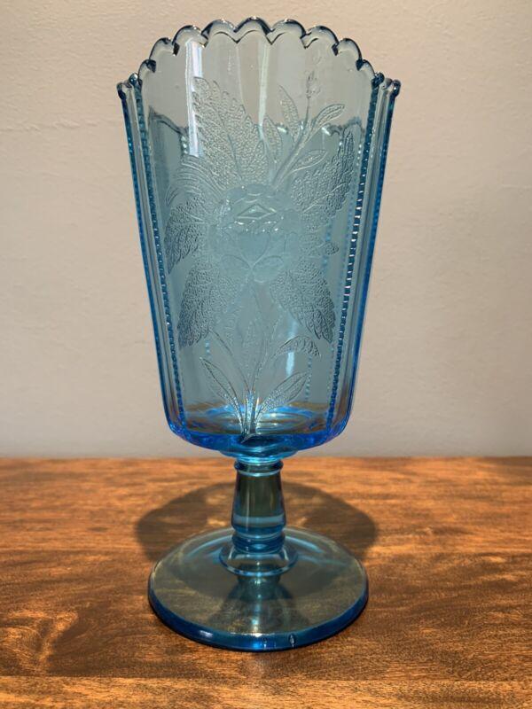 EAPG - Campbell, Jones - No. 86 Rose Sprig - Celery Vase -Blue