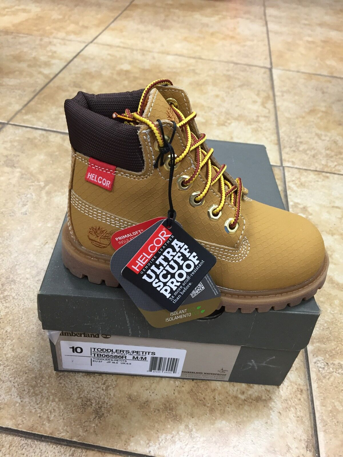 "NEW BABY TIMBERLAND 6"" WATERPROOF PREMIUM HELCOR TODDLERS BOOT  [6586R]  WHEAT"