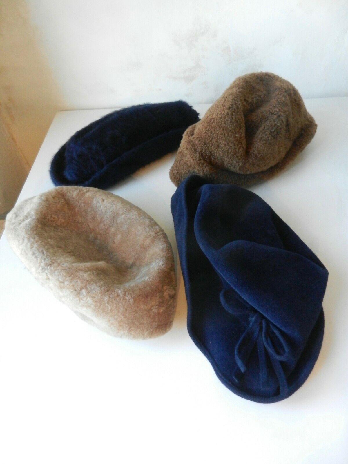 Vier Vintage Mützen Hüte Kopfbedeckungen