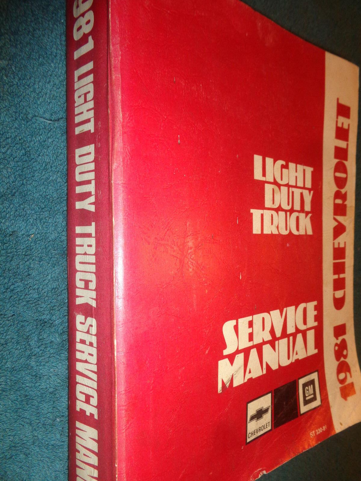1981 CHEVROLET TRUCK SHOP MANUAL / ORIG. BOOK PICKUP SUBURBAN BLAZER VAN 2WD 4WD
