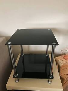 Black glass and metal coffee/side table Caringbah Sutherland Area Preview