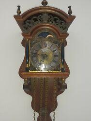 *Old Wall Clock  Dutch Sallander Clock Vintage with Moonphase Warmink *