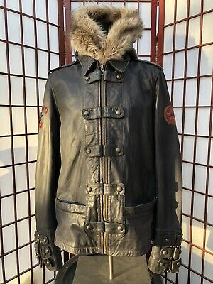Harley Davidson Front Line Leather Jacket  3 in 1 w/Hoodie  97140-13VW Size XL