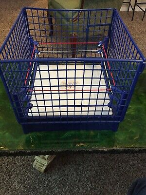 Wwe Wwf Hall Of Fame Blue Steel Cage Ring Playset