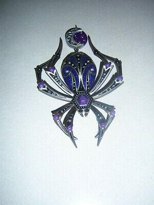 "2020 COLLECTOR'S Hallmark ""Stunning"" Purple Spider Halloween Keepsake Ornament"