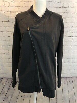 Lululemon Bundle Wrap Jacket Telemark Print Black Gray Black Stripe 10
