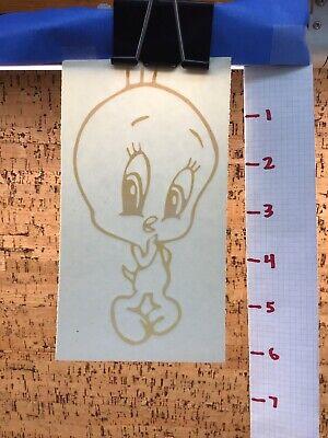 Tweety Bird Cute Shy  -  Yellow      -  Vinyl Transfer Decal - Y7-1.47 Tweety Bird Vinyl