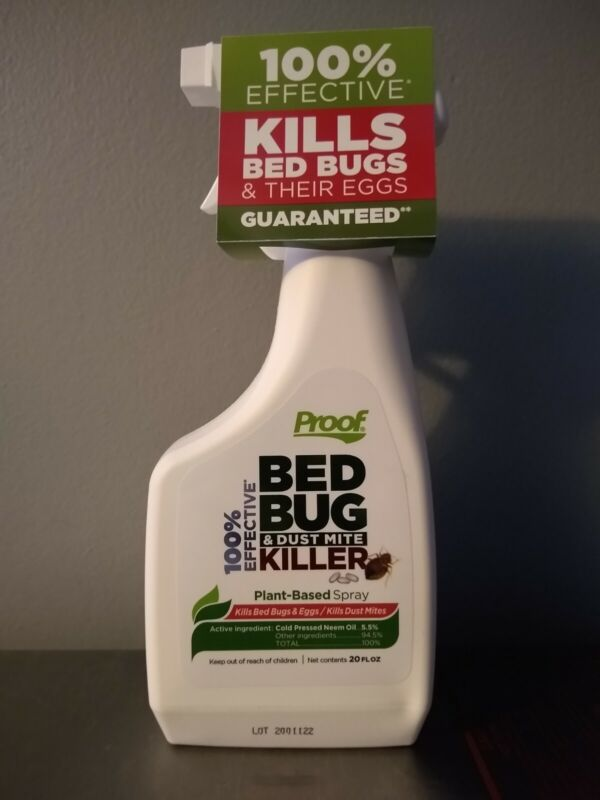Proof Bed Bug and Dust Mite Killer For Home Plant Based Bug Spray Fast Acting