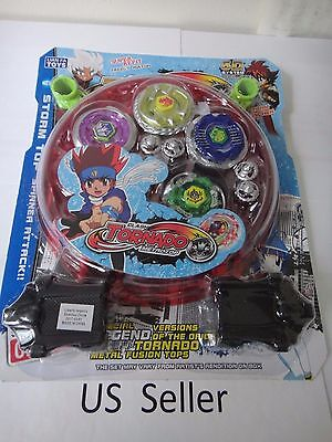 NEW Lian Fa Clash Tornado Metal Fusion Beyblade Speed Top Set US Seller