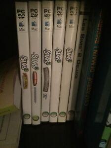 Sims 3 ( de base et expensions ) et sims 2 deluxe