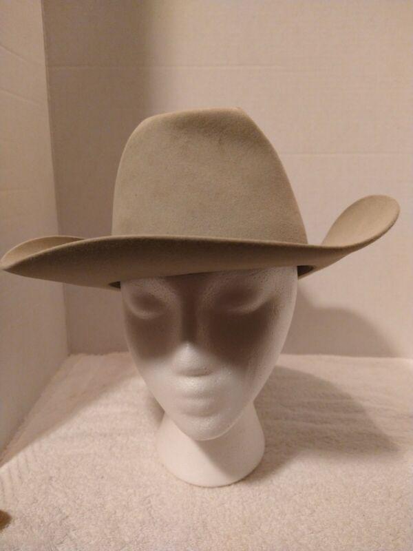 Resistol Self Conforming Western Hat 7 3/8  Gray Wool