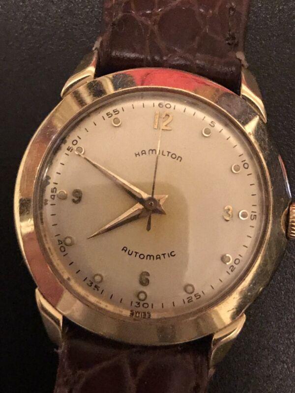14K Gold Hamilton Automatic 17 Jewel Bubble Back Fashion WristWatch