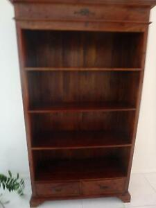Solid Timber Bookcase with 2 drawers Robina Gold Coast South Preview