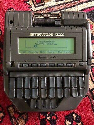 Stenograph Stentura 8000 Court Reporting Steno Machine Tripod And Case