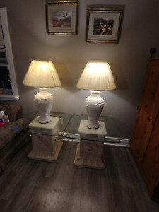 FOR SALE DOLPHIN END TABLES & LAMPS