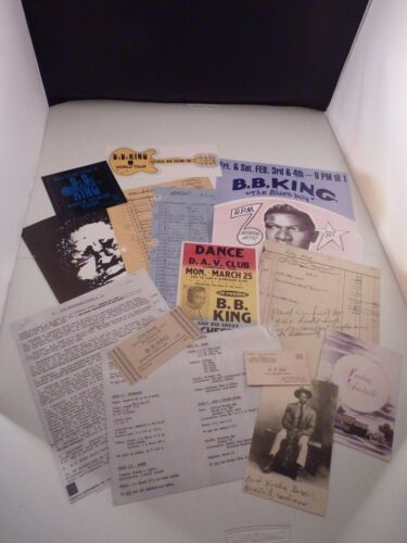 REPRODUCTION BB King Commemorative Memorabilia Pass Ticket Picture Poster Rider