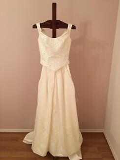 Two-piece Ivory Wedding Dress