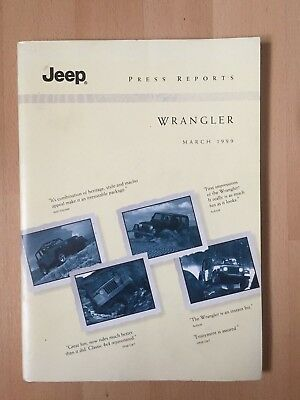 Jeep Wrangler Press Reports March 1999
