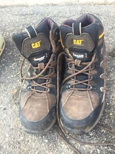 CAT steel toed work boots