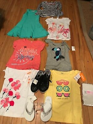 Lot Of10 PC Girls Sz 7 Spring Summer Clothes Dress Gymboree Abercrombie sneakers