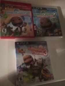 Lot de 3 jeux Little Big planet pour la PlayStation 3