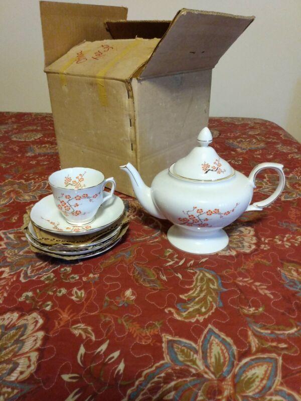 Vintage Crown Staffordshire Tea Set