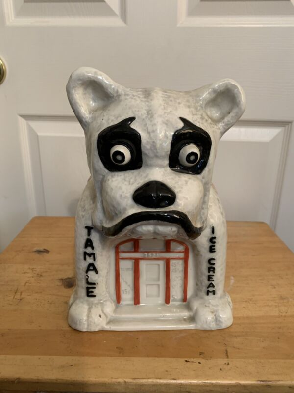 Bulldog Cafe Cookie Jar