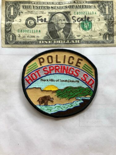 Hot Springs South Dakota Police Patch un-sewn in great shape