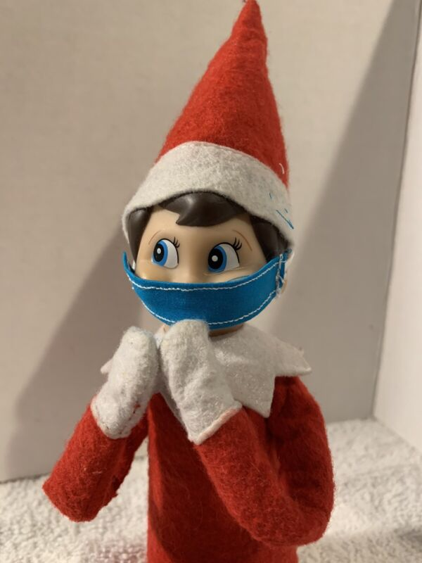 CHRISTMAS ELF MINI FACE COVERING FOR YOUR ON THE SHELF PROP/ACCESS POPULAR