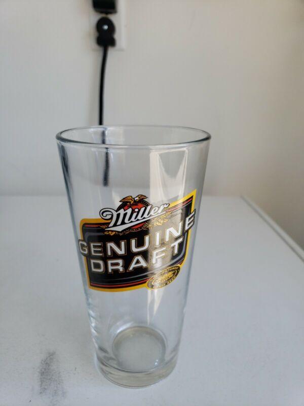 Miller Genuine Draft Tall Beer Glass
