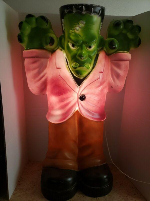 """Frankenstein Vintage 36"""" General Foam Plastics Blow Mold Halloween Decoration"""