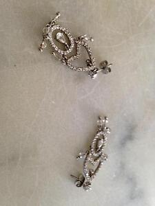 Long earrings silver and crystals Fennell Bay Lake Macquarie Area Preview