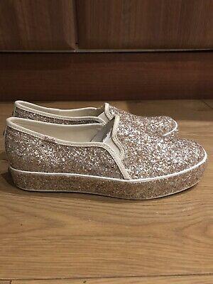 Keds for Kate Spade New York Triple Decker Glitter Cream Slip On Sneaker