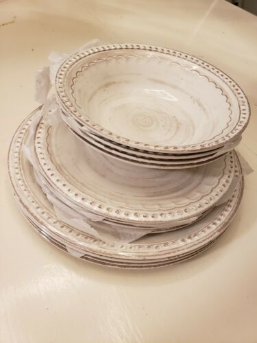 Zak Designs French Country House Dinnerware 12 Piece Melamin