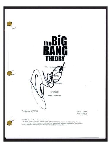 Kunal Nayyar Signed The Big Bang Theory Monopolar Expedition S2 E23 Script COA