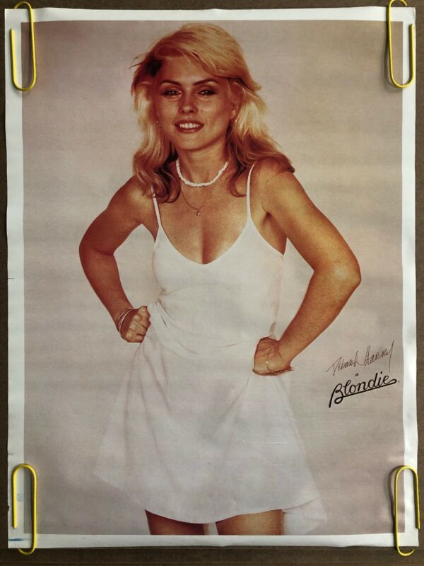 Blondie Vintage Poster Deborah Harry Pinup 1970s Music Memorabilia Headshop Mini