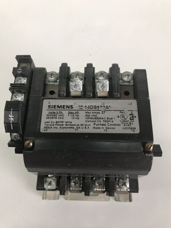 USED  Siemens Furnas 14DS+32A*  Motor Starter With 120/110v Coil